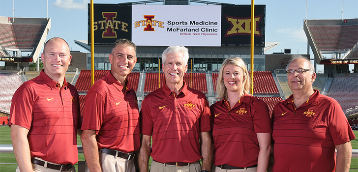 Official Team Physicians of Iowa State Athletics